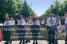 Marsz Św. Huberta w Warszawie.