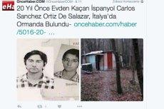 Mężczyzna  uznawany od 20 lat za zmarłego mieszkał w lesie
