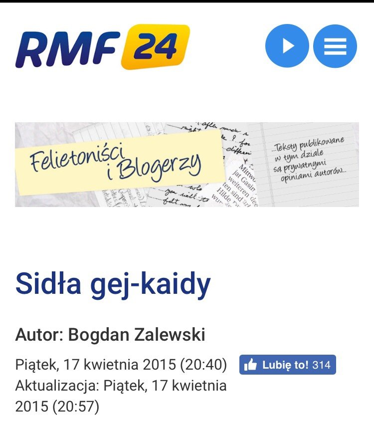 zrzut ekranu Bogdan Zalewski blog