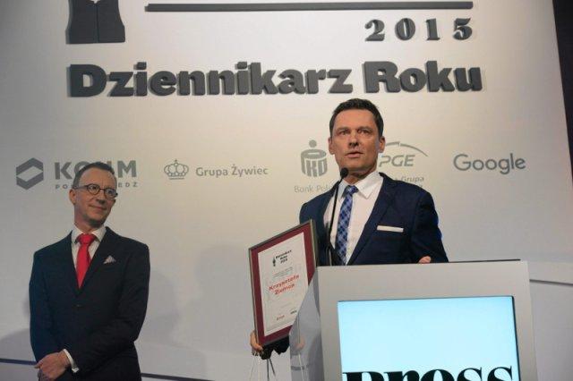 Rok temu zdobył IV miejsce w konkursie na Dziennikarza Roku.