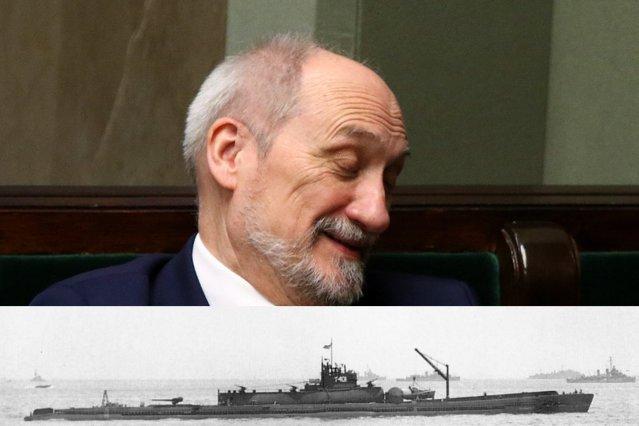 Antoni Macierewicz zapowiada zakup okrętów podwodnych wyposażonych w ... samoloty pokładowe.
