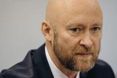 Michał Wojciechowicz ze stowarzyszenia Lepszy Gdansk podczas konferencji prasowej w sprawie powołania komisji do spraw pedofilii w Kościele.