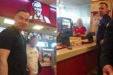 Andrzej Duda z małżonką zamawiali wrapa w KFC. W międzyczasie został zapytany o to, dlaczego łamie konstytucję. I zaczęła sięawantura