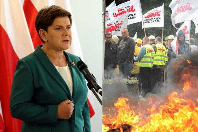 Beata Szydło ma wybór, albo podatnicy albo górnicy
