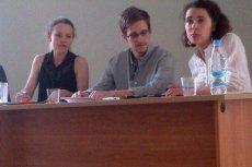Spotkanie Snowdena z obrońcami praw człowieka.