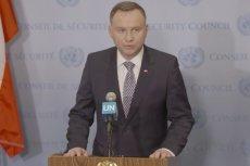 Andrzej Duda w siedzibie ONZ w Nowym Jorku odciął się od Donalda Tuska.