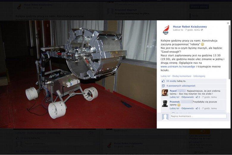 Kurierzy zgubili polskiego robota na konkurs NASA. Studenci odbudowują go w pokoju