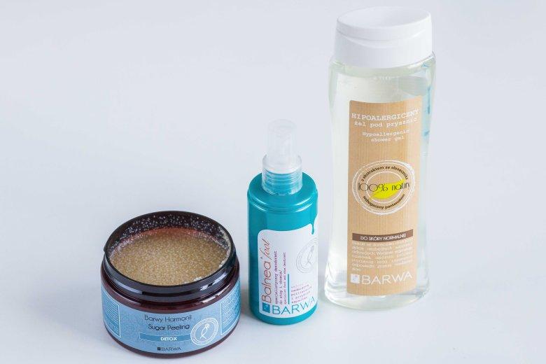Peeling do ciała, dezodorant do stóp i hipoalergiczny żel pod prysznic, Barwa