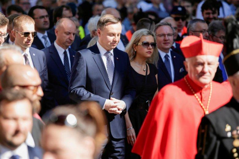 Andrzej Duda był obecny podczas mszy ku czci św. Stanisława w Krakowie.