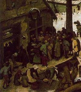 Spis ludności w Betlejem, fragment obrazu
