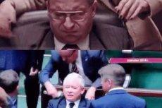 """To porównanie scen z serialu """"Ucho prezesa"""" i nagrań z Sejmu pokazuje, jak idealnie Robert Górski i spółka odwzorowują detale z życia prezesa Kaczyńskiego."""