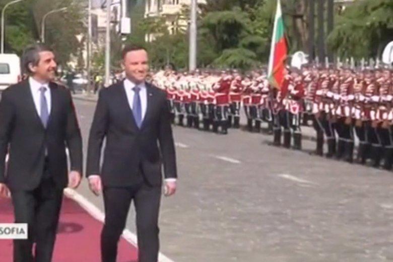 Oficjalne powitanie prezydenta Dudy w Sofii.