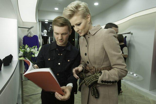 Małgorzata Kożuchowska podczas otwarciu warszawskiego butiku