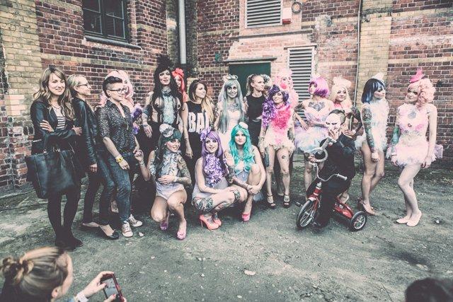 Cropp Tattoo Konwent 2014 / modelki biorące udział w pokazie Diany Błażków i Aniki Stanclik