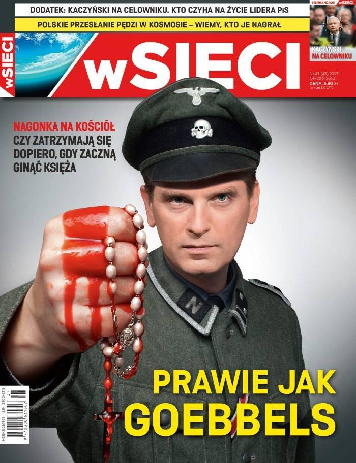 """Okładka tygodnika """"W Sieci"""""""