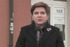 Premier Beata Szydło w Radomiu. W 2016 roku mówiła o normalności w służbie zdrowia.