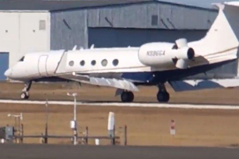 To ten samolot widziano na lotnisku Chopina w Warszawie.