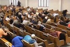 Na nagraniu widać przebieg zdarzeń w kościele w White Settlement w Texasie.
