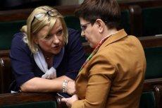 """Beata Kempa przekonuje, że rząd PiS jest pokorny i pracuje spokojnie, a za """"awantury"""" w Polsce odpowiada ktoś inny."""