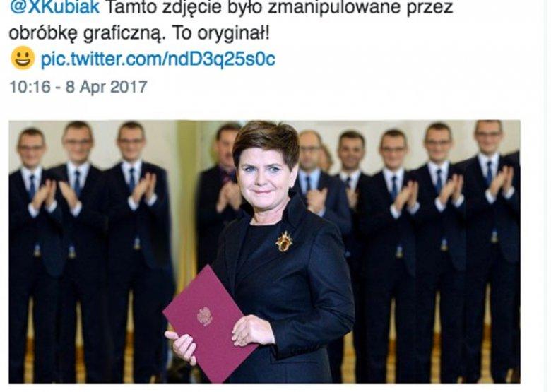 Premier Beata Szydło i kilku Szefernakerów