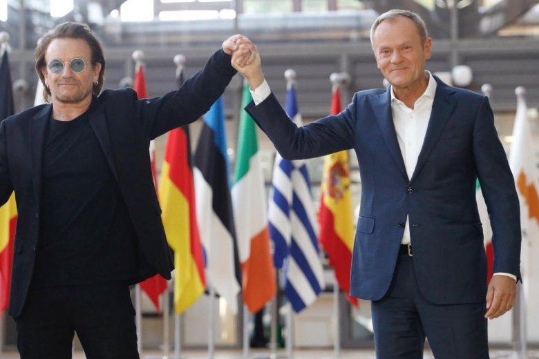 Donald Tusk spotkał się z Bono w siedzibie europarlamentu w Brukseli.
