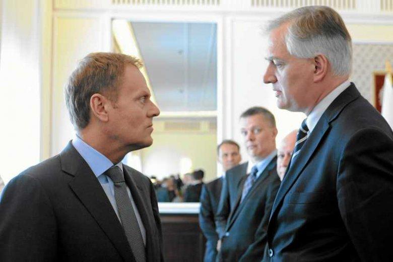 Premier Donald Tusk i minister sprawiedliwości Jarosław Gowin