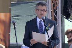 Marek Kuchciński odczytał list prezesa PiS na dożynkach w Markowej na Podkarpaciu.