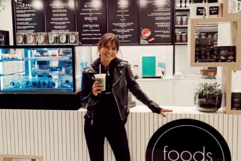 Anna Lewandowska otworzyła kawiarnię połączoną ze sklepem