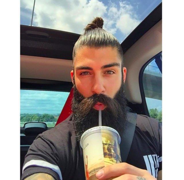 Kok z brodą.