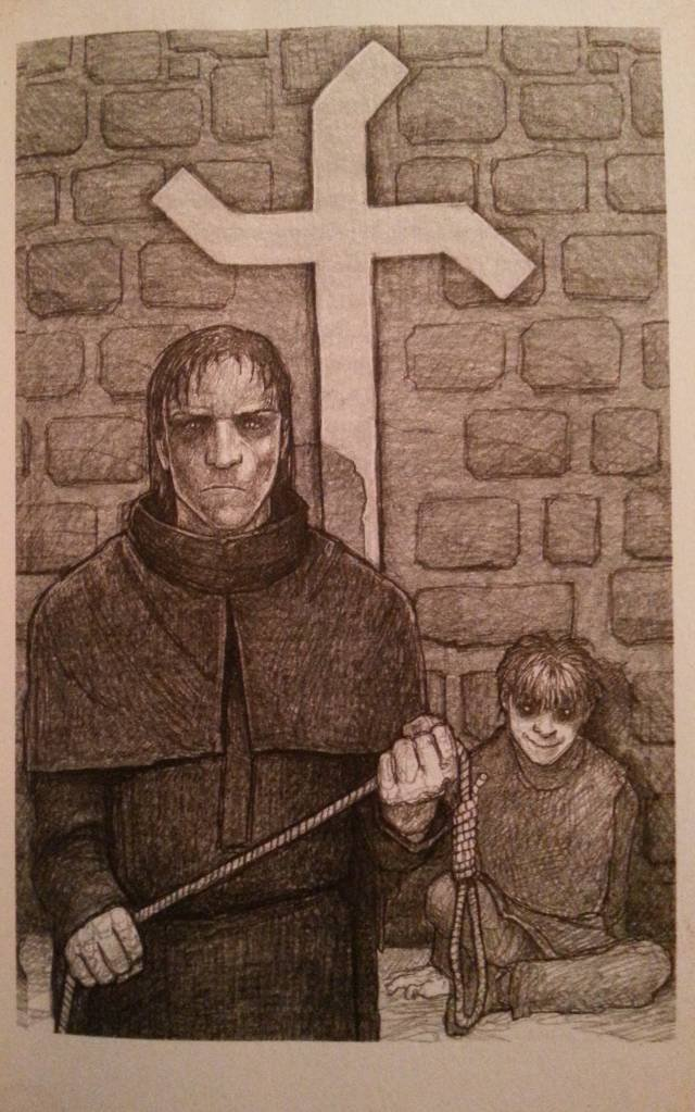 """Inkwizytor Mordimer Madderdin w trakcie jednego ze swoich śledztw. Ilustracja z książki """"Ja inkwizytor. Dotyk zła"""" autor: Dominik Broniek"""