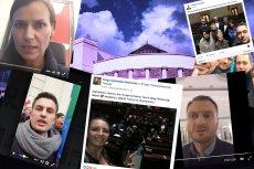Posłowie przejęli obowiązki dziennikarzy w Sejmie.