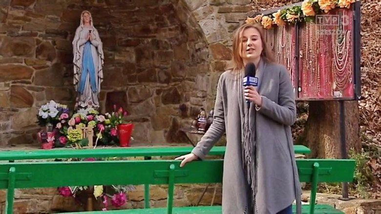 Zrzut ekranu. Na zdjęciu Natalia Chrapek TVP 3 Rzeszów podczas prognozy pogody.