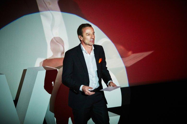 Jean-François Fallacher, prezes Orange Polska, podczas konferencji, na której zainaugurowano Orange Love