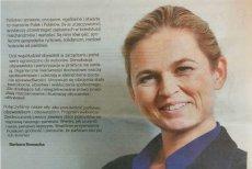 Zdjęcie Barbary Nowackiej z gazetki wyborczej nie jest dobrą reklamą listy Zjednoczonej Lewicy.