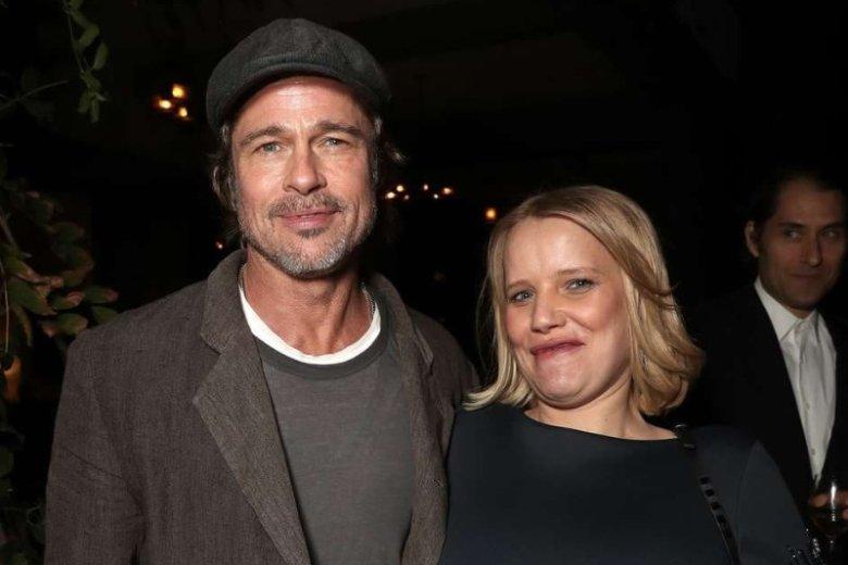 Joanna Kulig na świątecznym bankiecie z Bradem Pittem