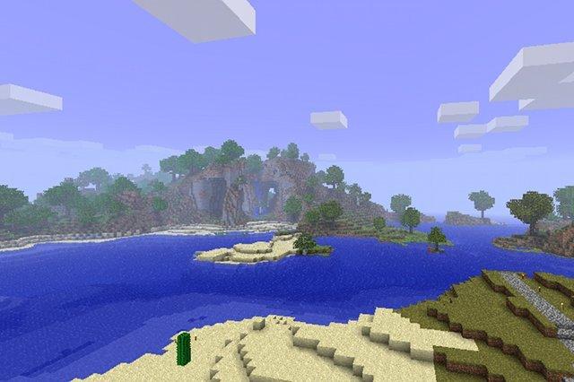 Krajobraz ze świata Minecrafta