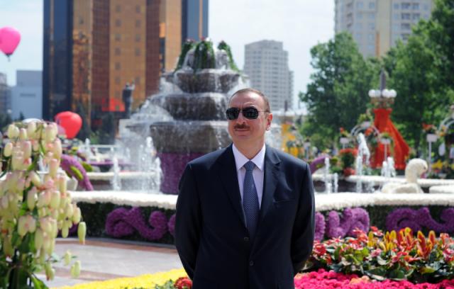 Prezydent Azerbejdżanu Ilham  Aliyev 1 lipca