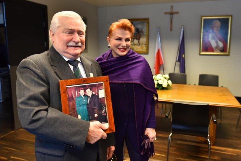 Były prezydent na spotkaniu z Georgette Mosbacher 30 września.