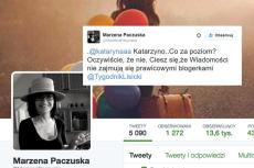 """Popularna prawicowa blogerka Kataryna podpadła szefowej """"Wiadomości""""."""