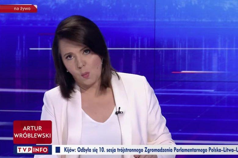 Danuta Holecka podczas rozmowy z Katarzyną Lubnauer robiła dziwne miny.