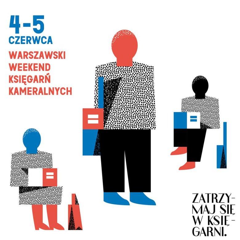 Plakat warszawskiego Festiwalu Księgarń Kameralnych.