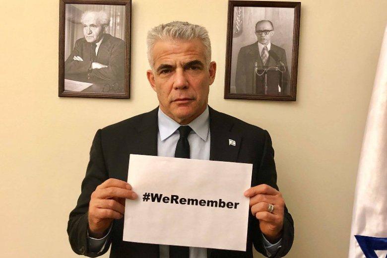"""Ja'ir Lapid napisał: """"Były polskie obozy śmierci i żadne prawo nigdy tego nie zmieni""""."""