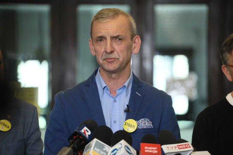 """Sławomir Broniarz podkreśla, że rozłam wśród strajkujących świadczy o tym, że to nie tylko """"jego"""" strajk."""