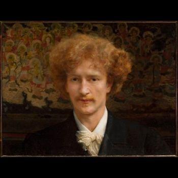 Lawrence (Laurens) Alma-Tadema. Portret Ignacego Jana Paderewskiego, namalowany w Londynie w 1890. 59 x 45,5 Własność Muzeum Narodowego w Warszawie.