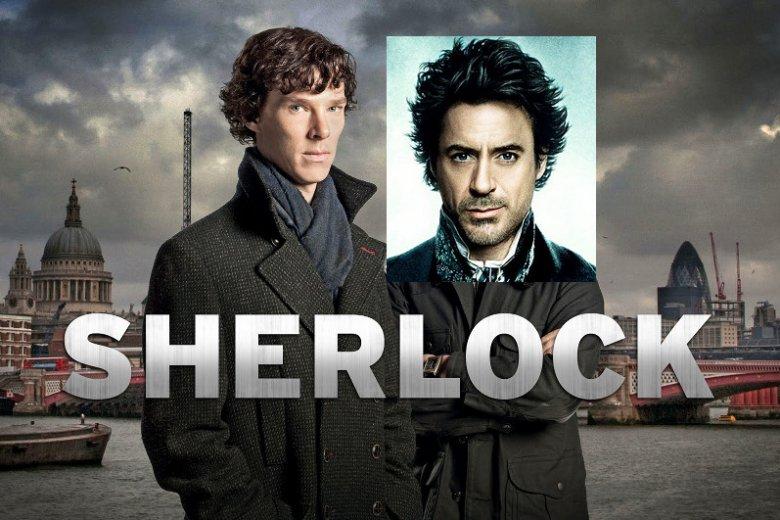 """Miks z promocyjnych zdjęć miniserialu BBC i filmu Guya Ritchie """"Sherlock Holmes: Gra cieni"""""""