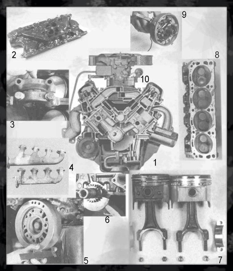 Przekrój przez V8 289 HiPo