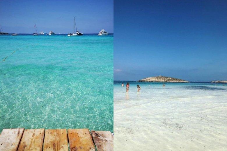 Wody przy tej plaże nazywane są rajem dla fanów kąpieli!