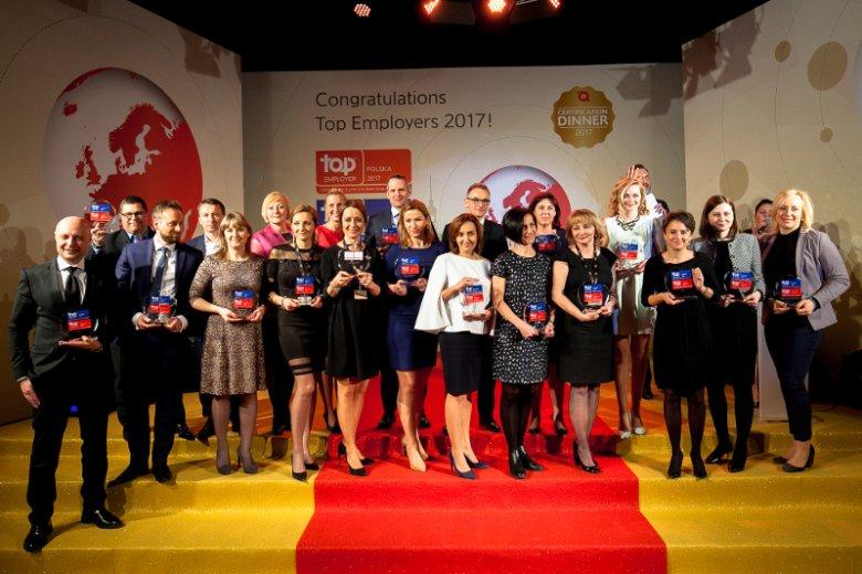 Pracodawcy wyróżnieni certyfikatem Top Employers Europe 2017