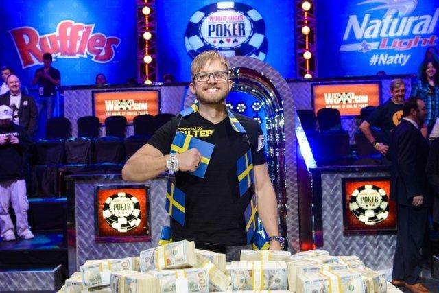 Szwed Martin Jacobson- zwycięzca Main Eventu World Series Of Poker 2014.