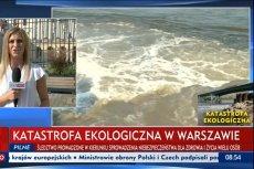 """TVP Info informuje o """"katastrofie ekologicznej"""". Prezydent Płocka uspokaja i mówi o """"sytuacji kryzysowej""""."""